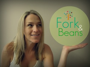 Fork and beans, Vegan