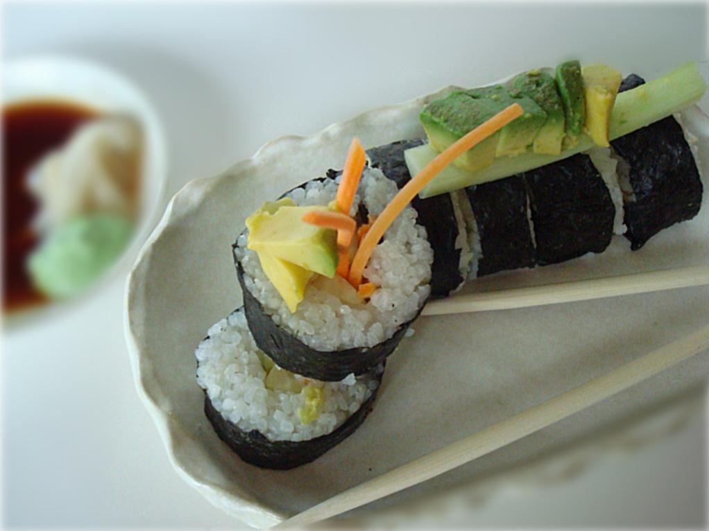 Vegan California Sushi Rolls