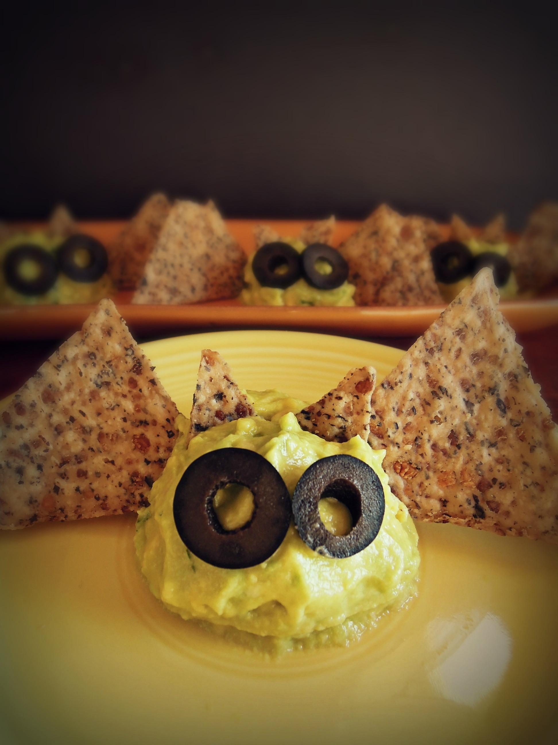 Guacamole Halloween Bats - Fork & Beans