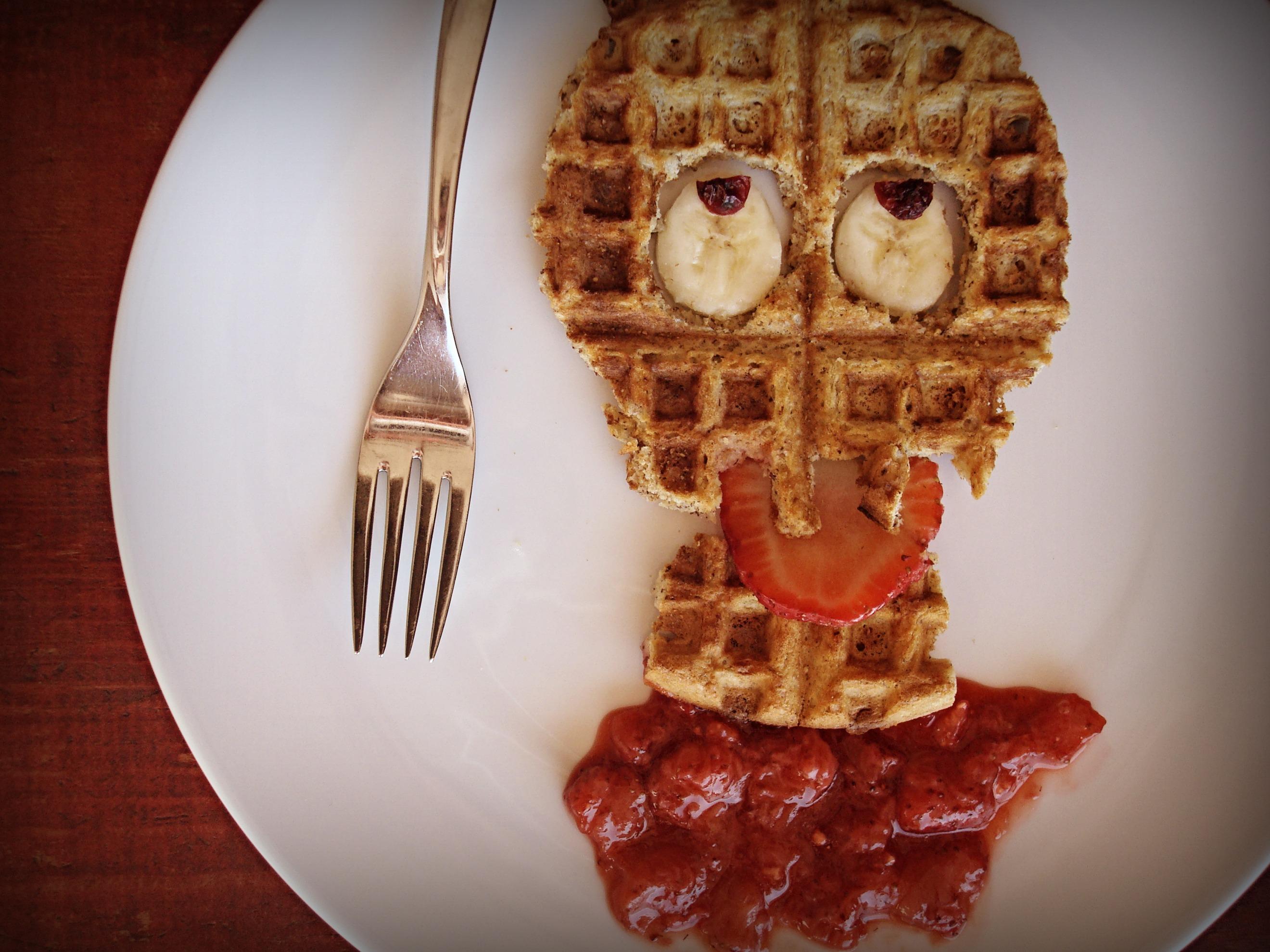 Skull-Shaped Waffles