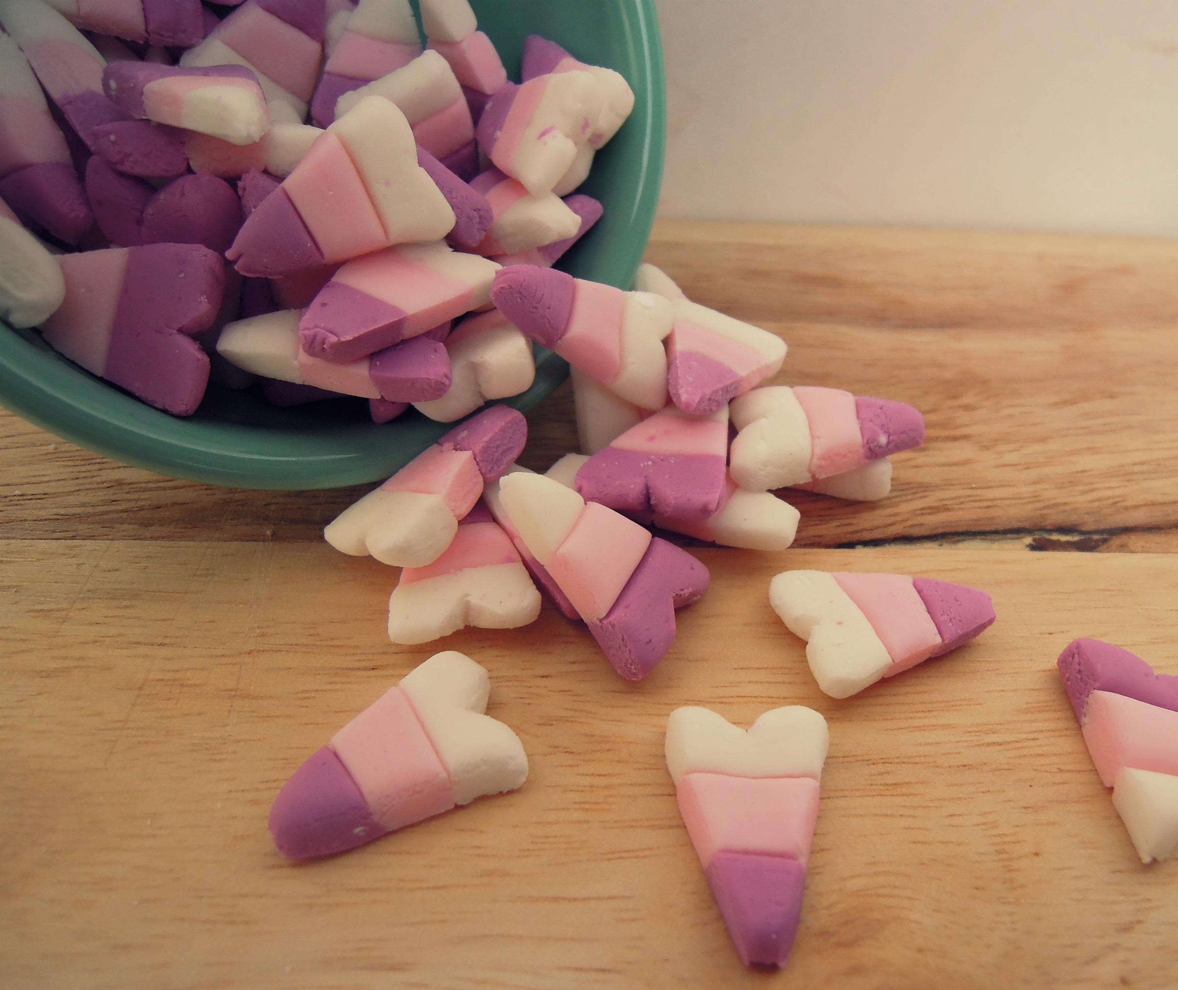 Vegan Marshmallow Hearts - Fork & Beans