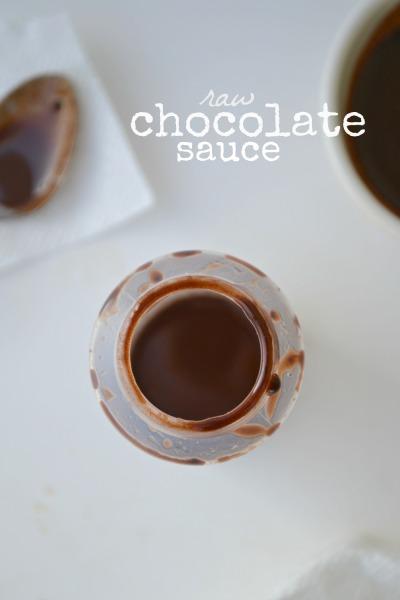 Raw Chocolate Sauce - Fork & Beans