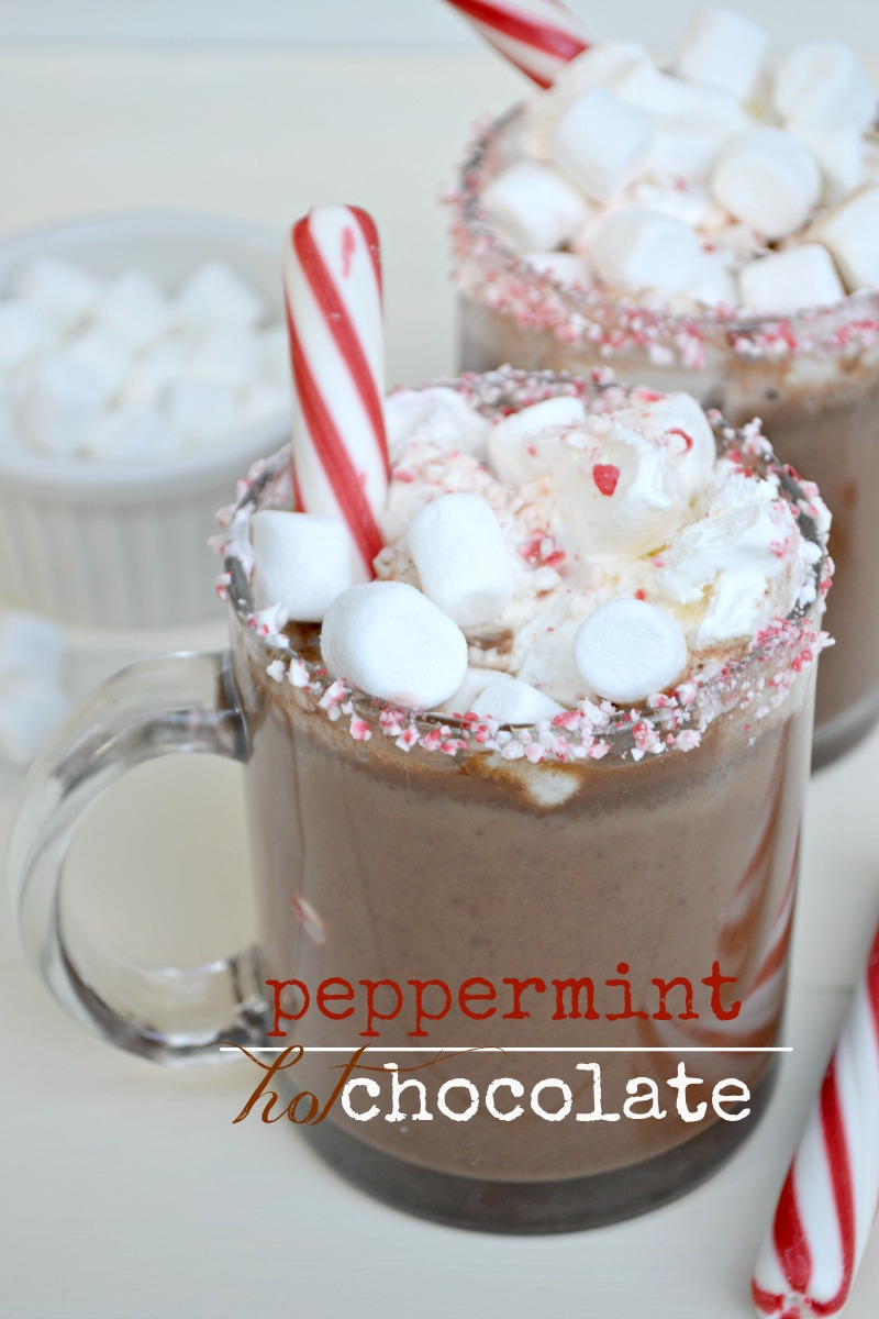 Non-Dairy Peppermint Hot Chocolate - Fork and Beans