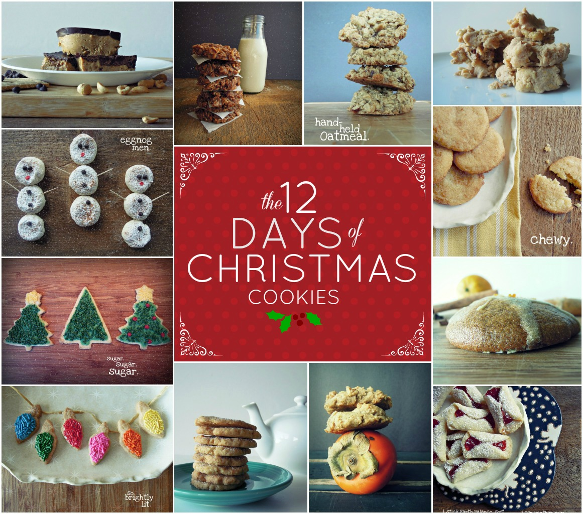 last year i teamed up with brooke over at crackers on the couch and de glutenized and veganized her amazing 12 days collection of christmas cookies