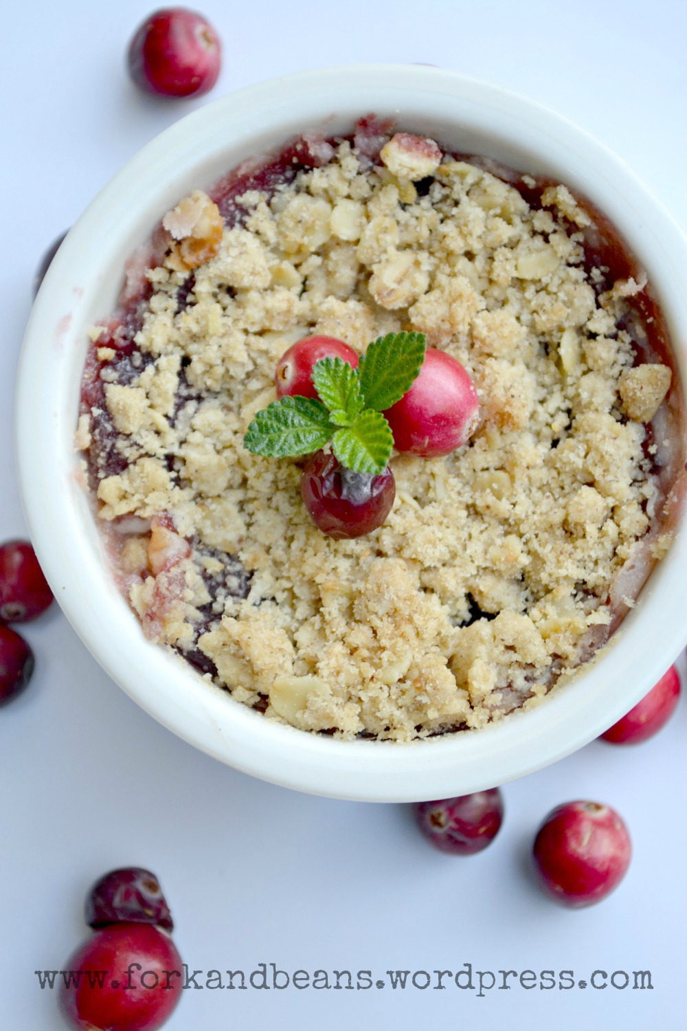vegan cranberry cheese crumble fork and beans. Black Bedroom Furniture Sets. Home Design Ideas