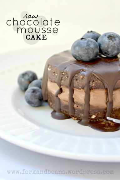 Raw Chocolate Mousse Cake - Fork & Beans