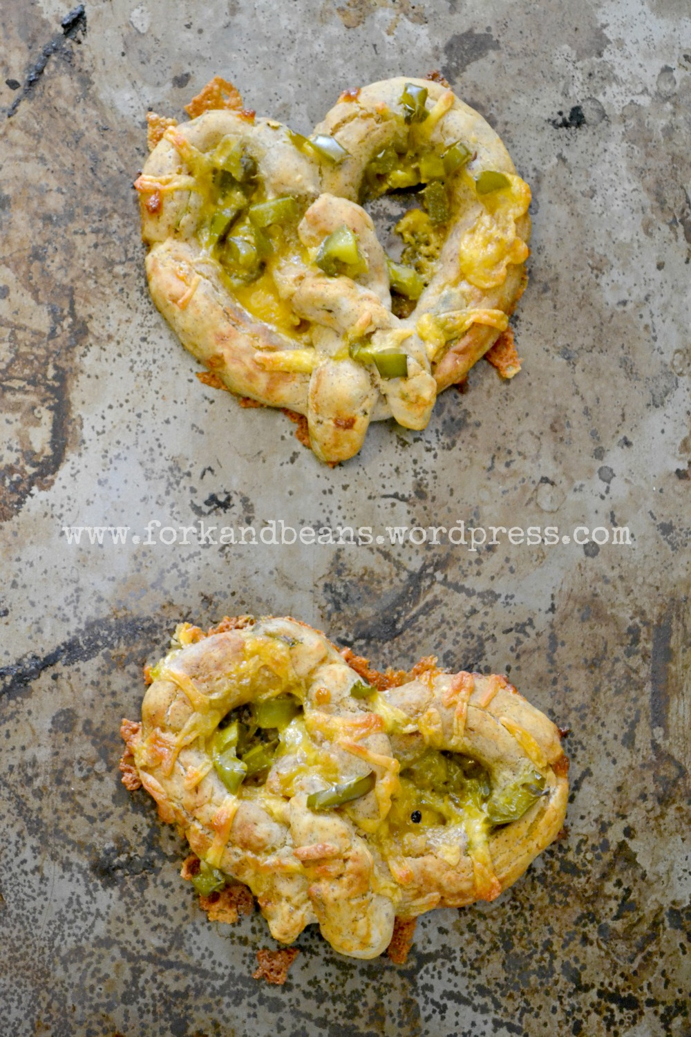 Jalapeno and Vegan Cheeze soft pretzels (gluten free)